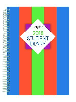 Diary 2018 Colplan A5 Student Week to View Spiral Bound SC37SP Collins Debden