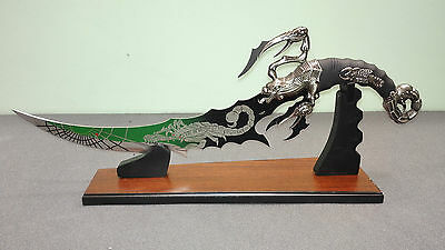 Fantasy Full Steel Scorpion Knife With Stand for Display