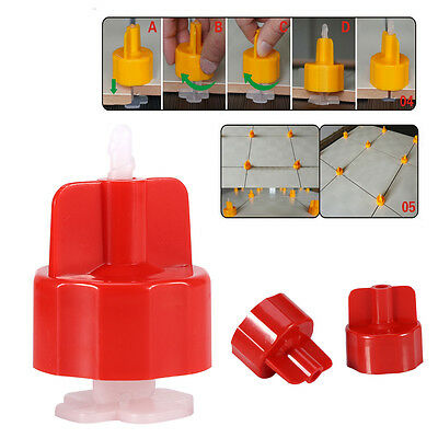 100Pcs Plastic Clips Floor Wall Tiling Spacers Strap Tile Flat Leveling System