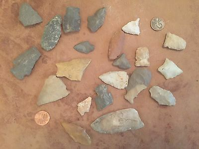 Knife Tool Arrowhead Artifact American Indian lot number mixed lot number 101-3