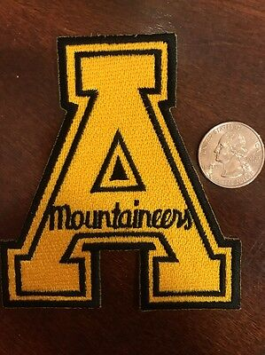 """Appalachian State Mountaineers  RARE Embroidered Iron On Patch 3.5"""" X 4"""""""