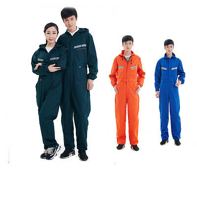 Adult Hooded overalls Paint dustproof COVERALL Mechanic college work workwear