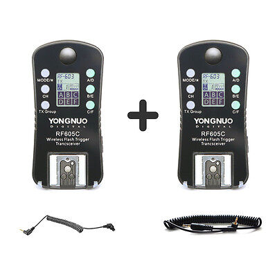 Yongnuo RF-605C Wireless Flash Trigger W LCD for Canon EOS YN-560IV RF-603 II