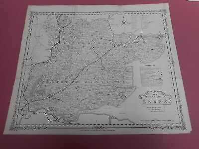 100% Original Large Essex Map By H G Collins  By C1863  Railways