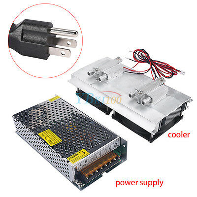 Semiconductor Refrigeration Thermoelectric Peltier Water Cooling Power Supply 1b
