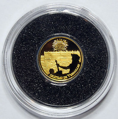 2011 The Palace of Versailles - 0.5 Gram Gold Coin - France - .9999 Fine Proof