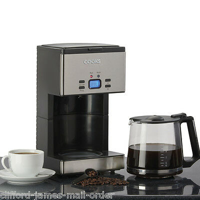 Cooks Professional 1000w Filter Coffee Machine 24hr Timer Large 15 Cup Capacity