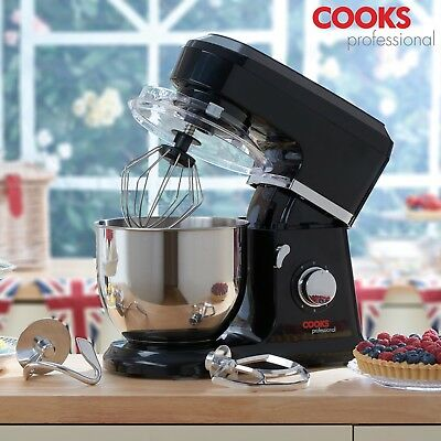 Cooks Professional Stand Mixer 6 Speed Hook Beater Whisk 4.5L Mixing Bowl 800W