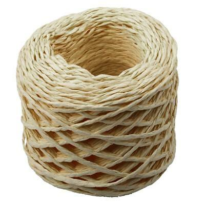 30 Meters Yellow Paper Raffia Ribbons Cords for Flower Gifts Craft Scrapbook