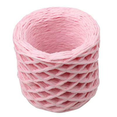 30 Meters Pink Paper Raffia Ribbons Cords for Flower Gifts Craft Scrapbook