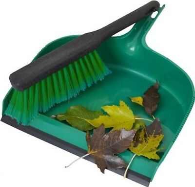 Standard Jumbo Handheld Dustpan and Brush Sweeper Set - Home Cleaning | Plastic