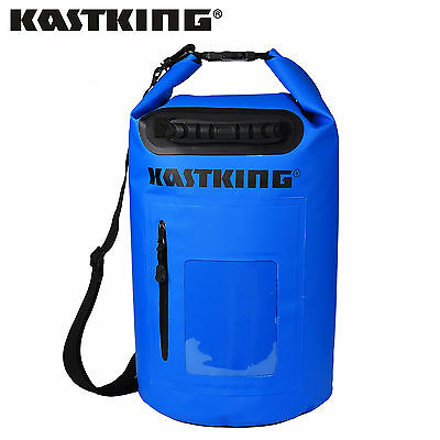 30L KastKing Dry Bag Waterproof Roll Top Type Duffel Bag w/ Grab Handle - Blue