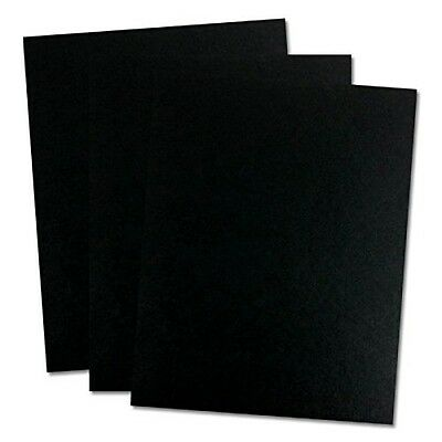 TruBind 8-1/2 x 11 Inches 12 Mil Sand Texture Polycovers Pack Of 100 Black Satin