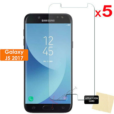 5 Pack CLEAR LCD Screen Protector Covers for Samsung Galaxy J5 2017 (SM-J530f)