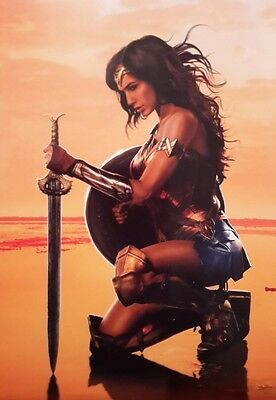 Wonder Woman Character Kneeling Movie Film A4 Poster Picture Print Art