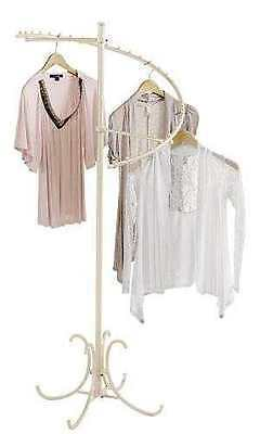 """Spiral Clothing Rack Clothes Display 29 Ball Garment Fixture Ivory 63"""" x 26"""""""