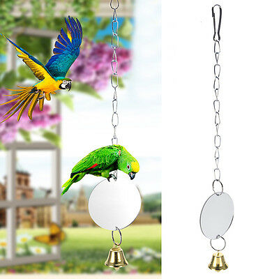 Funny Pet Parrot Cage Haning Mirror Swing Climbing Toys For Parrots Cockatiel