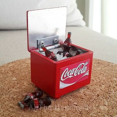 Coke COCA-COLA Bottles in Ice Tub Dollhouse Miniature Food Beverage Drink Supply