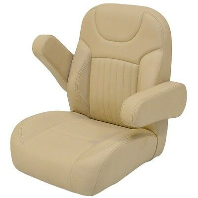Boat Helm Seat | Reclining Sand 25 1/8 x 25 1/4 x 27 1/2 Inch