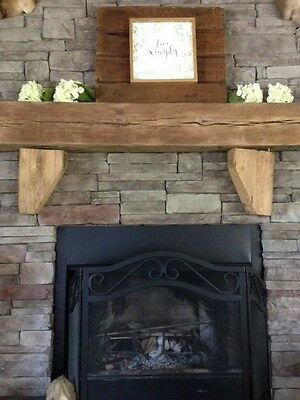 Corbels Mantel wood reclaimed lumber mantle Fireplace hardwood chic