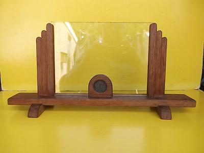 261 / EXCELLENT 1930's ART DECO WOODEN PHOTOGRAPH FRAME SET WITH AN OLD PENNY