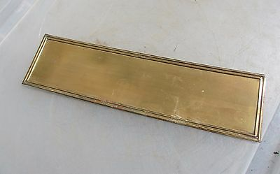 Vintage Brass Finger Plate Push Door Handle Architectural Antique Frame Old