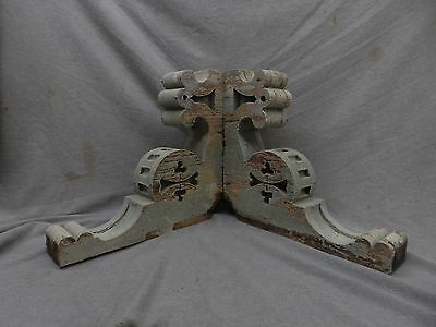 Antique Pair Wood Corbels Shabby Cottage Chic Vintage Victorian 17x16 139-17P