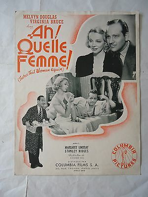 MELVYN DOUGLAS/there's that woman again/ 1B/ FRENCH pressbook