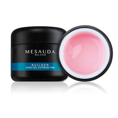 Mesauda Gel Costruttore Monofasico Rosa Builder Extreme Pink 50Gr Unghie Uv Led