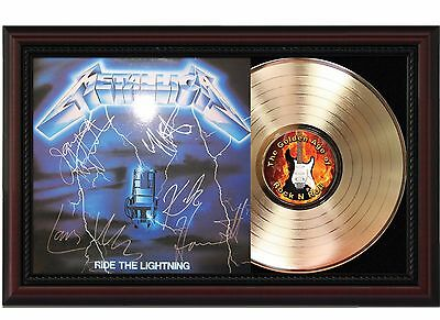 "Metallica - Ride the Lightning Cherrywood Reproduction Signature Display. ""M4"""