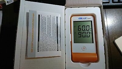 Data Logger Elitech GSP-6 Temperature and Humidity Recorder 16000 Points Refrige