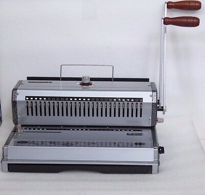 Akiles WireMac 21 Punch & Pitch Wire Binding Machine Please Read Ad