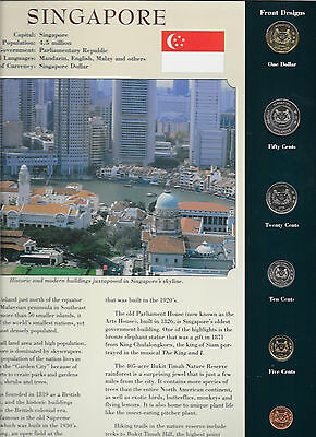 Coins from Around the World Singapore 1995 - 2006 BU UNC $1, 20 Cents 2006