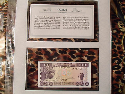 *Most Treasured Banknotes Guinea 1985 100 Francs P30a UNC