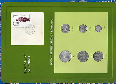 Coin Sets of All Nations Romania 1966 -1982 UNC 5 Lei 1978 3, 1 Lei 1966 08.7.83