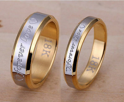 Ladies Mens silver gold wedding ring band couples set K - Z4 engagement new MN41