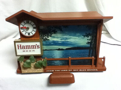 Hamms lighted beer sign Dusk till dawn motion sunrise sunset bar light vintage