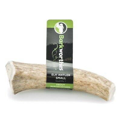 Barkworthies Select Elk Antler All Natural Chewable Dog Chew Treats Small