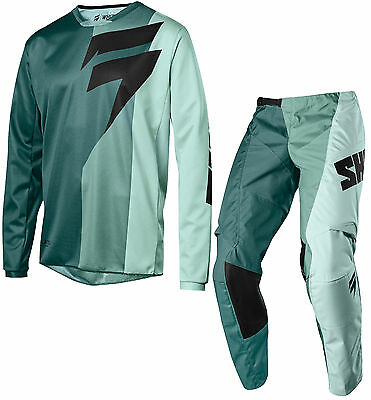 Shift Racing 2018 Mens Teal White Label Tarmac Dirt Bike Jersey & Pants Combo MX