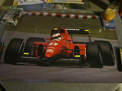 Vintage FERRARI Formula One FACTORY PHOTO POSTER from Modena, Italy  Jean Alesi