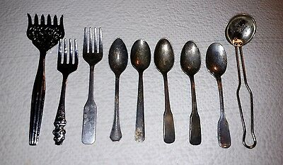 Lot of Vintage Mini Spoons and Forks, Carebear Spoon