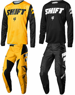 Shift Youth White Label Ninety Seven Dirt Bike Jersey & Pants Combo Kit MX ATV