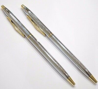 2x NEW JINHAO #310 CHROME PLATED CHISELLED GT BALLPOINT PEN 8513 - UK SOLD!
