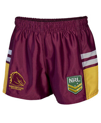 Brisbane Broncos NRL 2018 Home Supporters Shorts Adults & Kids Sizes S-5XL!