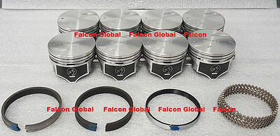 Chevy 7.4L/454ci Speed Pro Hypereutectic Flat Top Pistons+MOLY Rings Set/Kit STD