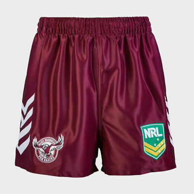 Manly Sea Eagles NRL Supporters Replica On Field Footy Shorts Adult & Kids Sizes