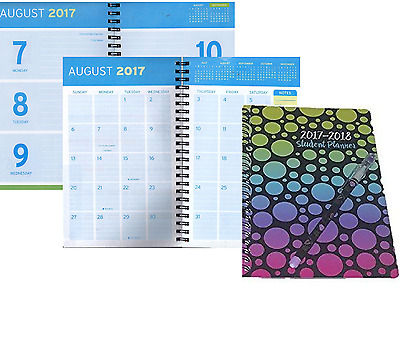 Daily Planner 2017-2018 Weekly Monthly Academic Agenda Student Schedule Year New