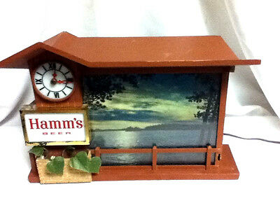 Hamms lighted beer sign Dusk till dawn motion sunrise sunset bar light vintage 1