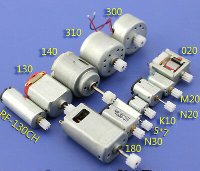 12Pcs 3/3.7/6V Mini 130 Micro DC Motor Gear Round Small Motor Toy Car DIY Model