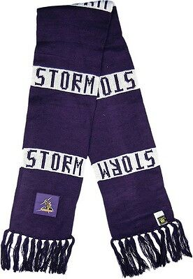 Melbourne Storm NRL Traditional Bar Scarf with tassels! BNWT's!